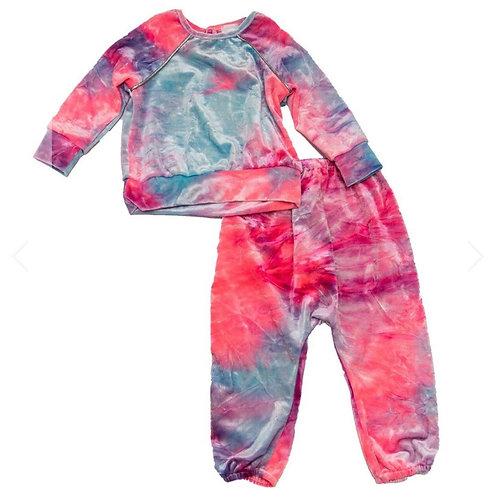 Little Mass - Tie Dye Velvet Set