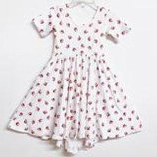 Eyee Kids - White Floral Twirl Dress