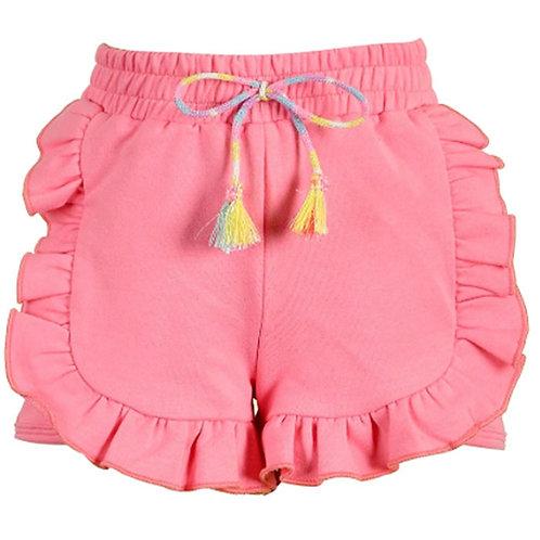 BabySara - Coral Ruffle Shorts