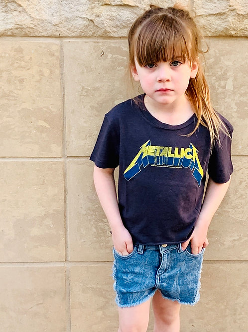 Rowdy Sprout - Not So Crop Metallica Tee