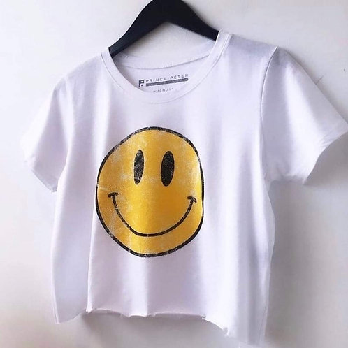 Prince Peter - Smiley Face Crop Top