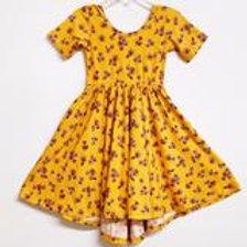 Eyee Kids - Yellow Floral Twirl Dress
