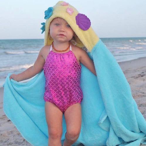 Yikes Twins - Mermaid Hooded Towel