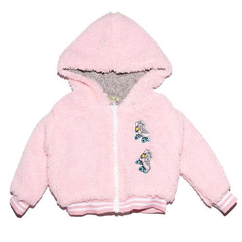 Little Mass - Pink Sherpa Jacket