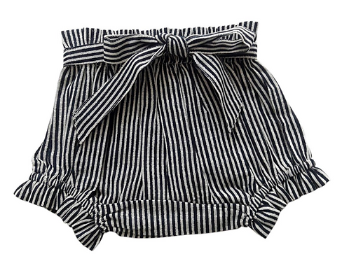 YoBaby - Navy Striped Shorts Diaper Cover