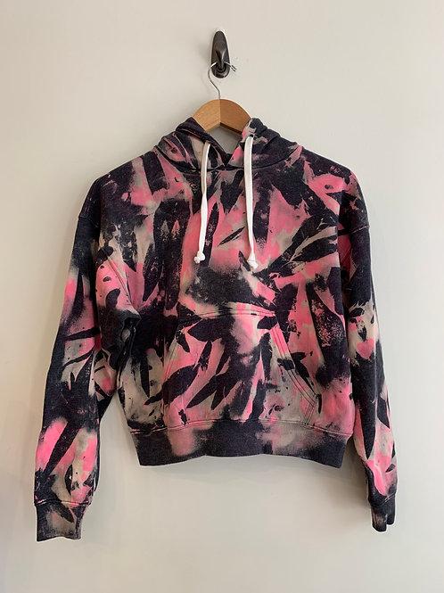 KatieJNYC - Neon Pink & Black Tie Dye Hoodie