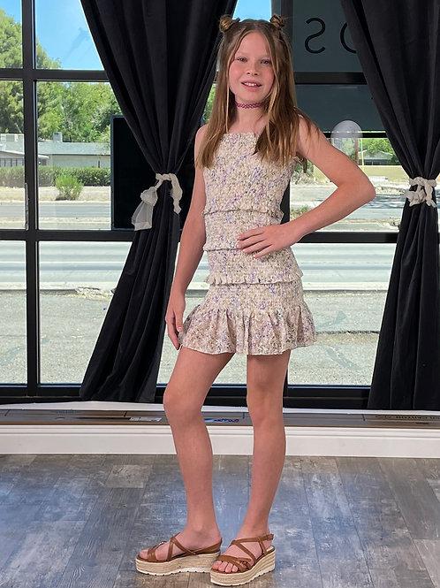 KatieJNYC - Neutral Floral Dress