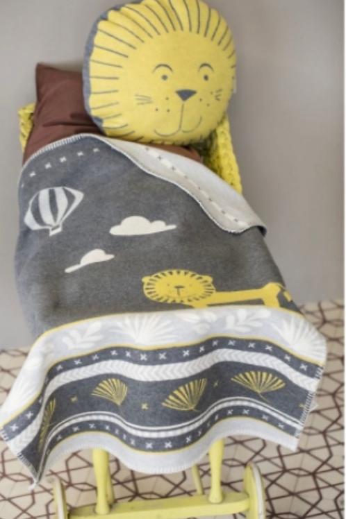David Fussenegger - Lion/Balloon Organic Blanket