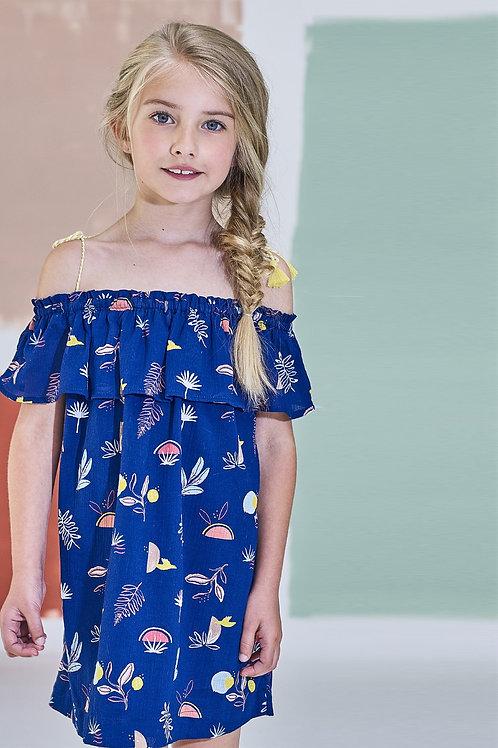 Jean Bourget - Royal Blue Tie Dress