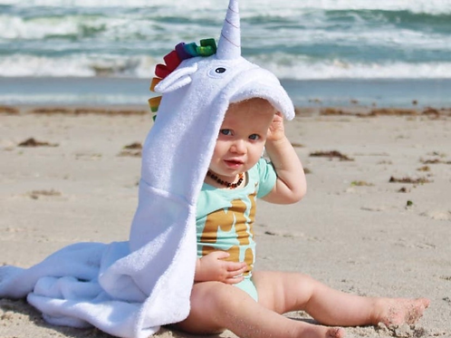 Yikes Twins - Unicorn Hooded Towel