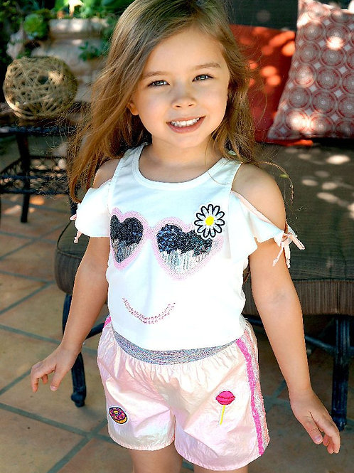 BabySara - Could Shoulder Smiley Tee
