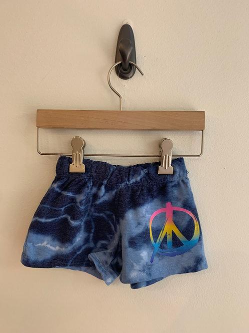Firehouse - Peace Blue Tie Dye Shorts