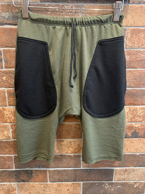 Jagged Culture - Army Green Long Shorts