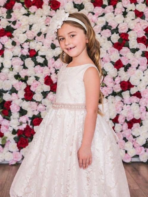 Kids Dream - Lace V Back Bow Dress