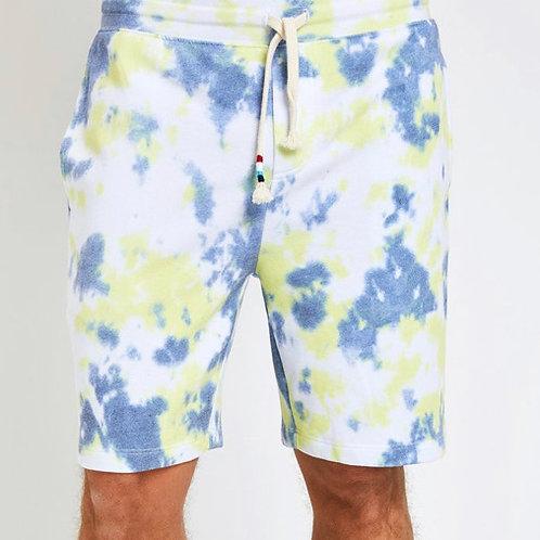Sol Angeles - Green & Blue Tie Dye Shorts
