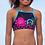 Thumbnail: Limeapple - Cropped Floral Swimsuit