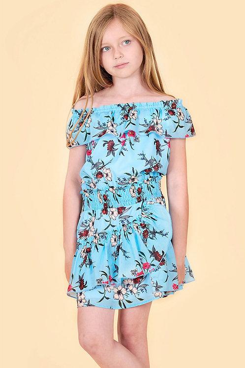 Truly Me - Blue Floral Dress