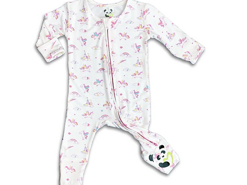 BellaBu Bear - Unicorn Convertible Footie Onesie