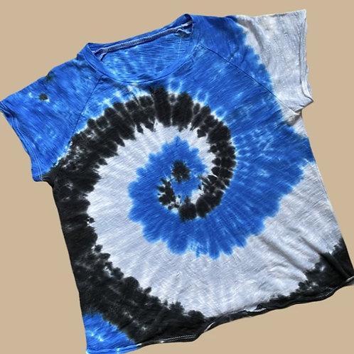 Katie J NYC - Blue Tie Dye Tee