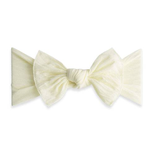 Baby Bling - Ivory Classic Knot Bow