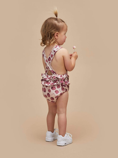 Huxbaby - Berry Frill Playsuit