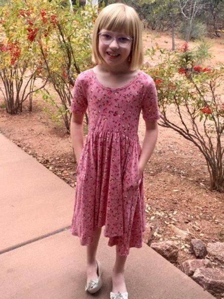 Eyee - Pink Floral High Low Dress