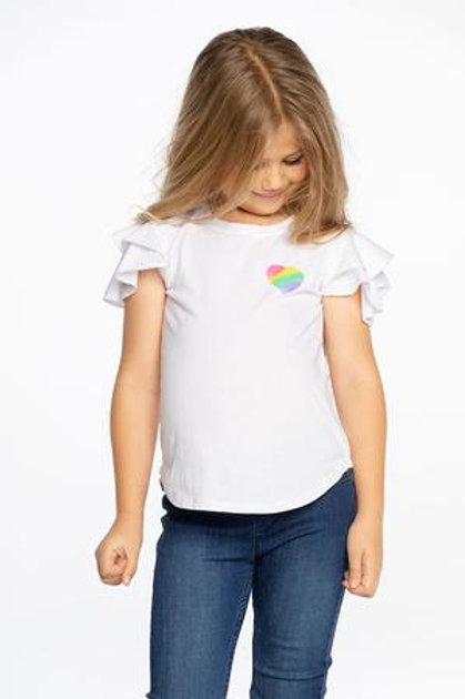 Chaser - Heart and Wings White Tee