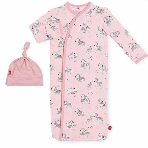 Magnetic Me - Pink Zebra Gown/Hat Set