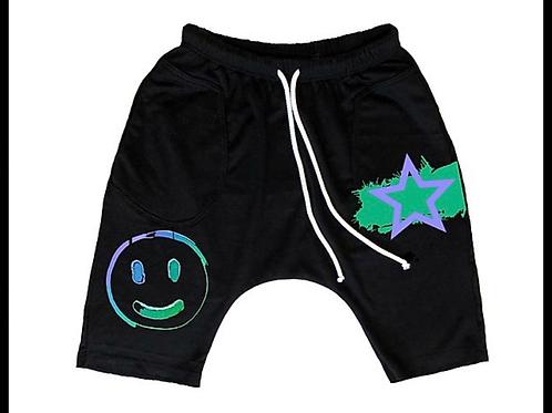 Jagged Culture - Smiley Rockstar Baggy Shorts