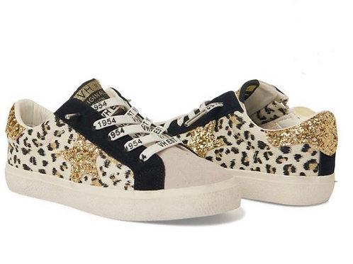 Vintage Havana - Leopard Glitter Star Shoes