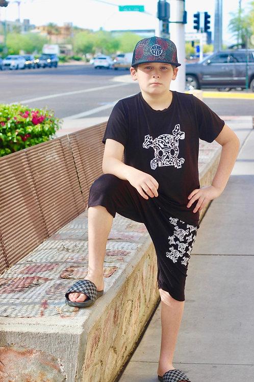 Jagged Culture - Black Skull T-Shirt
