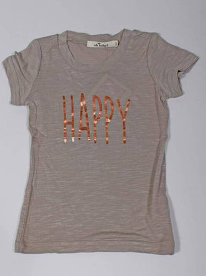 Oh Baby! - Happy Grey Bamboo Tee