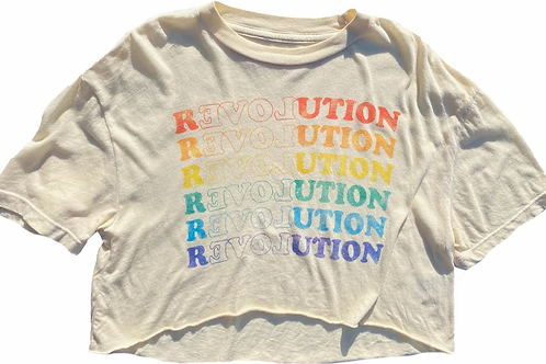 Rowdy Sprout - RevLOVEution Boxy Crop Tee