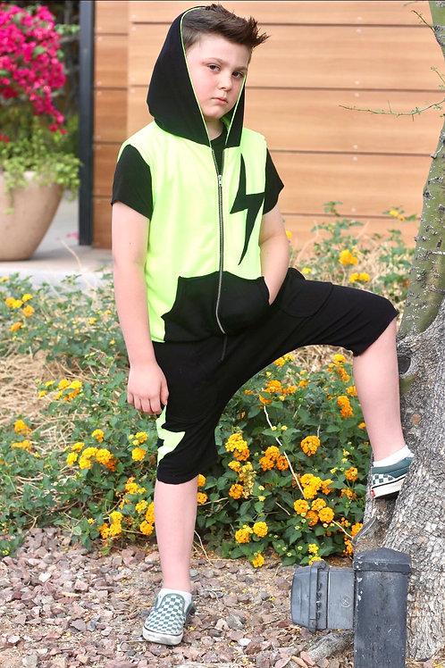 Jagged Culture - Lightning Bolt Zip Up Vest