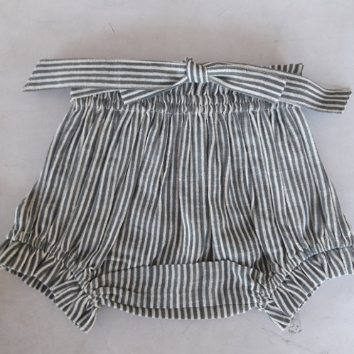 YoBaby - Grey Striped Shorts Diaper Cover