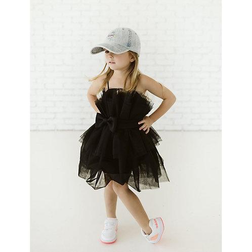 Petite Hailey - Black Tutu Dress With Belt