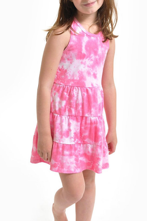 Sol Angeles - Pink Tie Dye Tier Dress