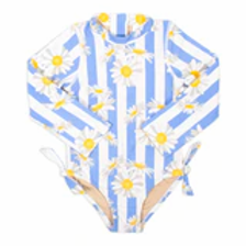 Shade Critters - Daisy Striped Long Sleeve One Piece