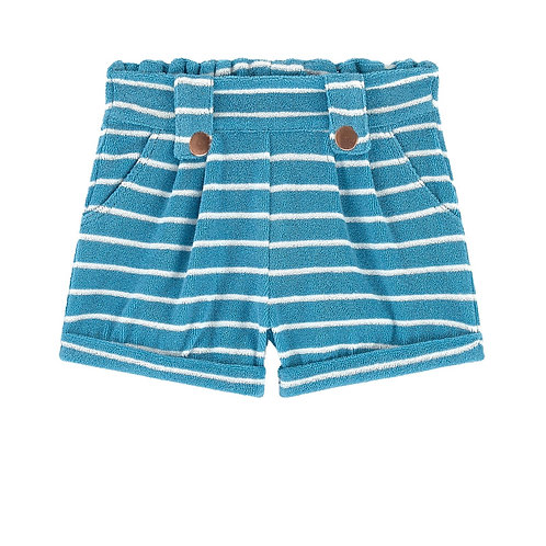 Jean Bourget - White/Blue Terry Short