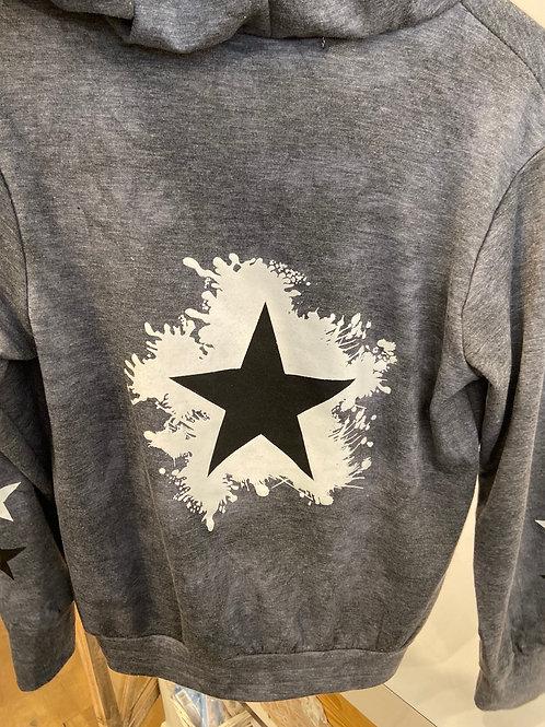 Jagged Culture - Grey Star Zip up Hoodie