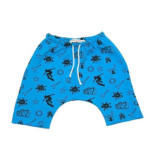 Jagged Culture - Hand Sketch Baggy Rocker Shorts