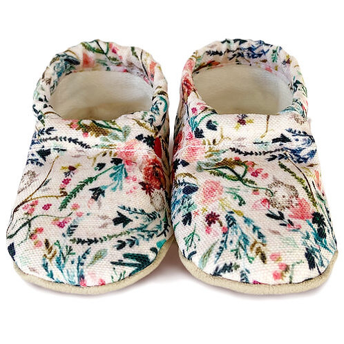 Clamfeet - Annecy Floral Soft Soled Shoes