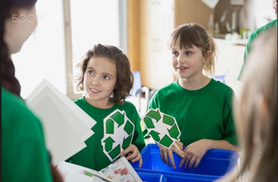 children recycling and sustainability
