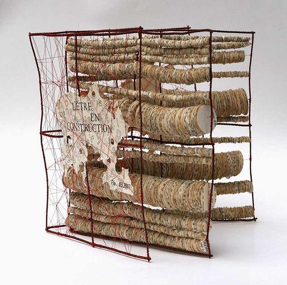 Papier, Paper-Art, art contemporain papier, création papier, artiste du papier, livre d'artiste livre objet, artist-book