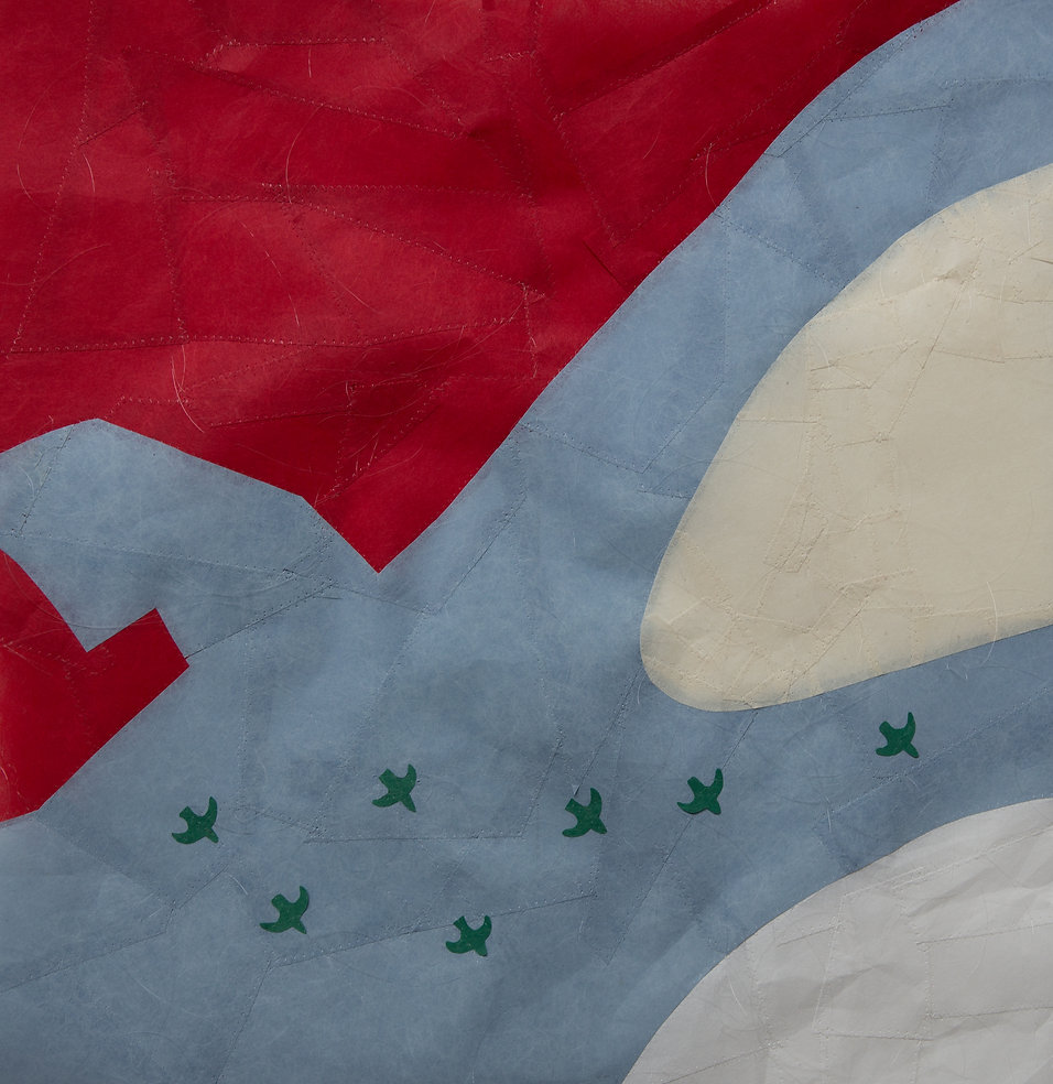 FOCUS 006- 64°08'07-N - 21°53'43 - O Papier, Paper-Art, art contemporain papier, création papier, artiste du papier,