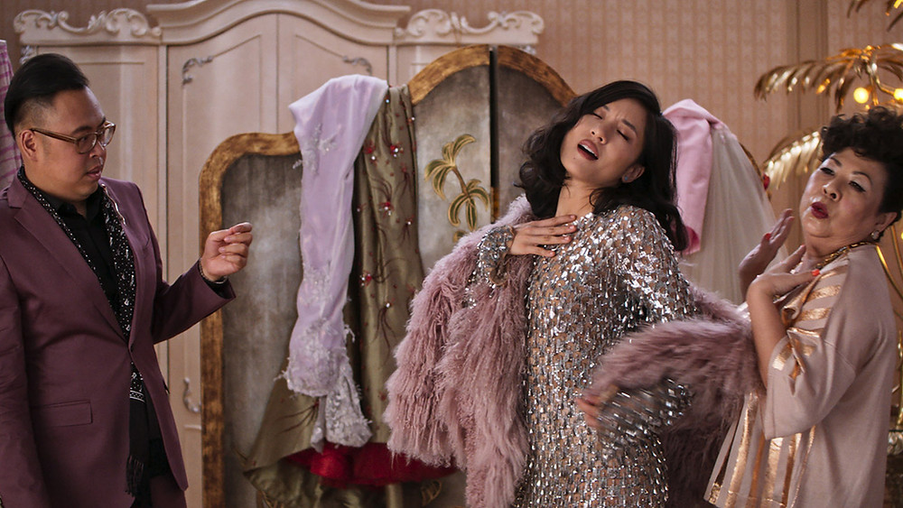 An iconic scene from Crazy Rich Asians (2018), distributed by Warner Bros. Pictures.