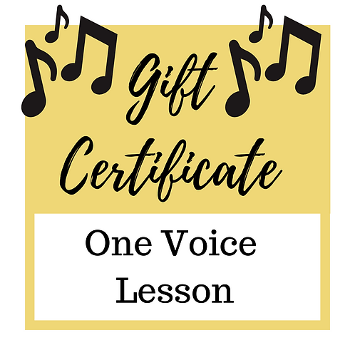 Gift Certificate for 1 Voice Lesson