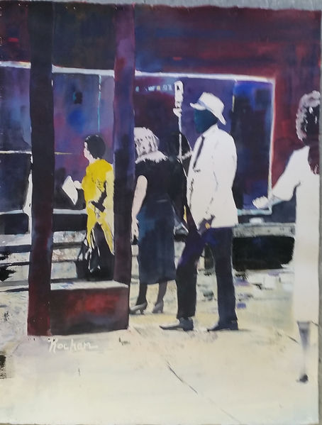 """Lunch Break II"". An original painting by Dallas Artist, Pat Wheelis Kochan"