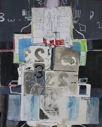 """""""The Sketch"""", an original collage by Dallas Artist, Pat Wheelis Kochan"""
