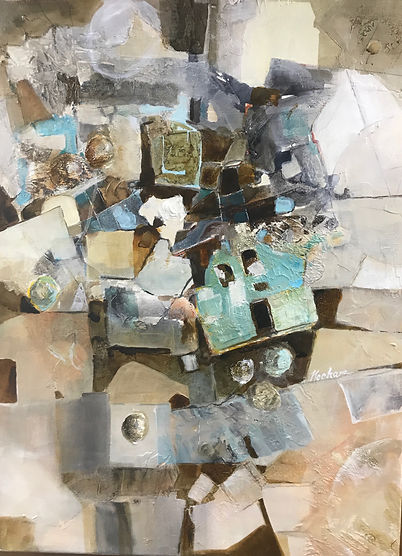 """Global Communication"". An original Acrylic on Canvas by Dallas Artist- Pat Wheelis Kochan"